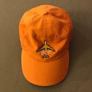 Boeing 747 Orange Baseball Hat OSFM GUC!